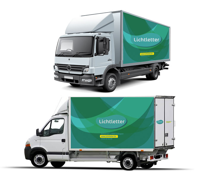 Belettering vrachtwagen LARGE Kortemark