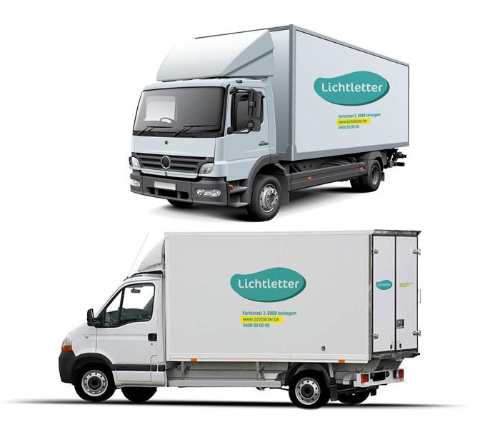 Belettering vrachtwagen MEDIUM Kortemark