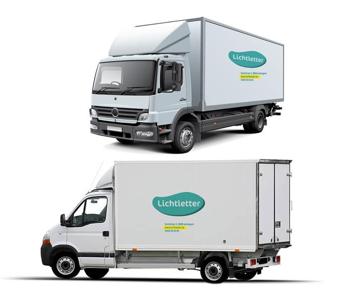 Belettering vrachtwagen SMALL Kortemark