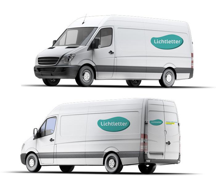 Belettering Small bestelwagen Kortemark