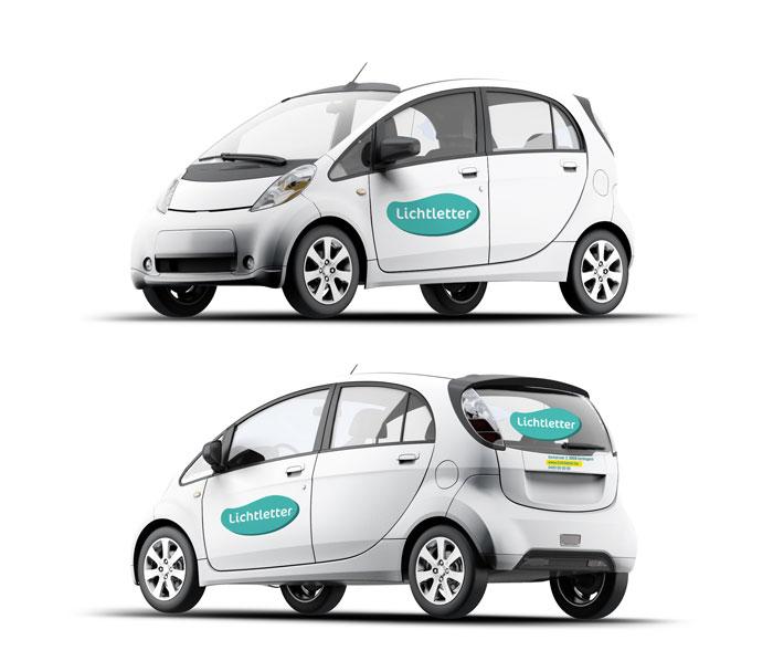Belettering auto SMALL Kortemark